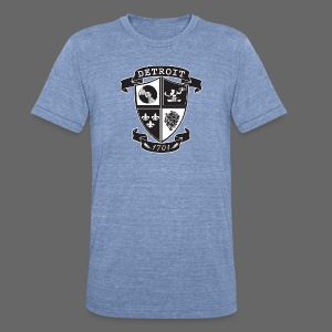 A Detroit Crest - Unisex Tri-Blend T-Shirt by American Apparel