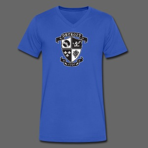 A Detroit Crest - Men's V-Neck T-Shirt by Canvas