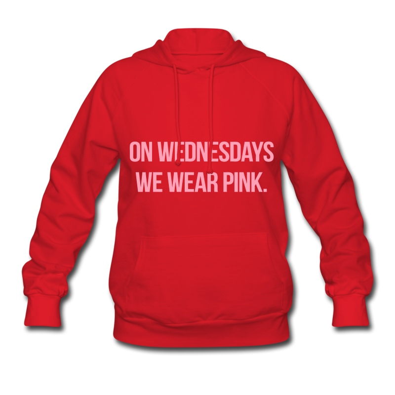 On Wednesdays We Wear Pink Hoodie | Spreadshirt
