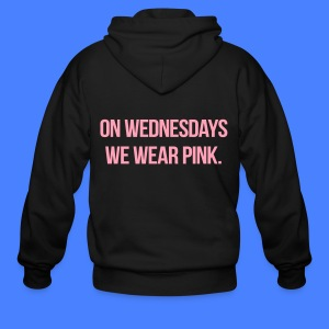 On Wednesdays We Wear Pink Zip Hoodies & Jackets - Men's Zip Hoodie