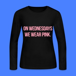 On Wednesdays We Wear Pink Long Sleeve Shirts - Women's Long Sleeve Jersey T-Shirt