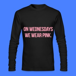 On Wednesdays We Wear Pink Long Sleeve Shirts - Men's Long Sleeve T-Shirt by Next Level
