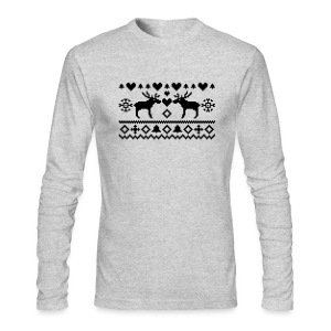 Men's T Moose - Men's Long Sleeve T-Shirt by Next Level