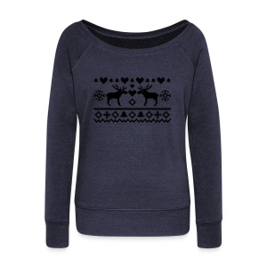 Women's Sweat shirt Moose - Women's Wideneck Sweatshirt