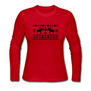 Women's Long Sleeve shirt Moose - Women's Long Sleeve Jersey T-Shirt