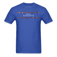 T-Shirts ~ Men's T-Shirt ~ I Ship It - Pixel Characters Lines Men's Tee