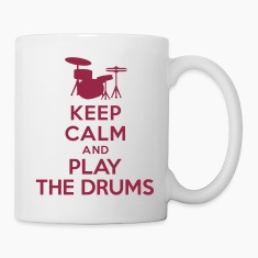 Keep calm and play the drums Bottles & Mugs