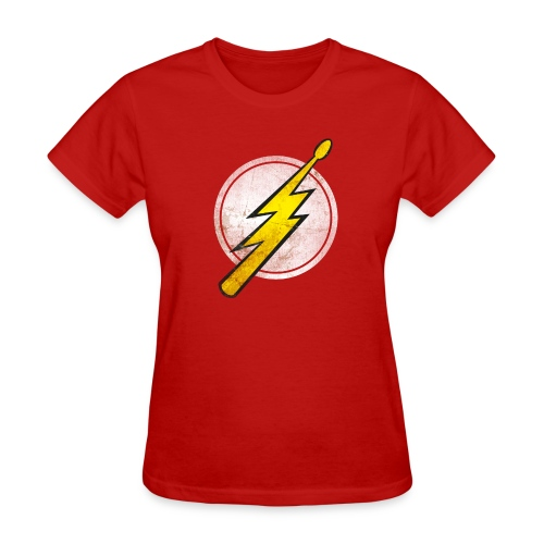 Flash Drummer - Girlz - Women's T-Shirt