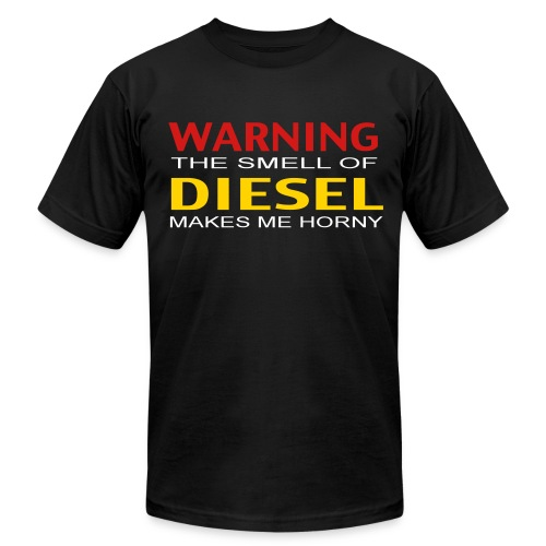 The Smell of Diesel - Men's T-Shirt by American Apparel