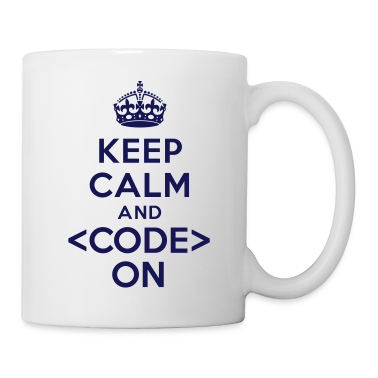 Keep calm and code on Bottles & Mugs