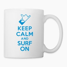 Keep calm and surf on Bottles & Mugs