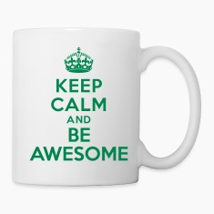 Keep calm and be awesome Bottles & Mugs