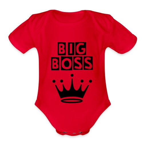 Big Boss Baby - Organic Short Sleeve Baby Bodysuit