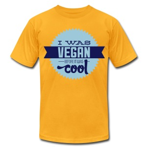 Vegan Before It Was Cool Men's Tee - Men's T-Shirt by American Apparel