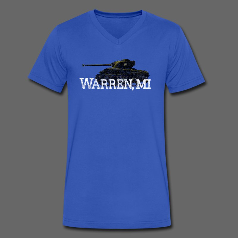 Warren, Michigan - Men's V-Neck T-Shirt by Canvas