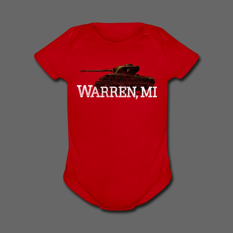 Warren, Michigan - Short Sleeve Baby Bodysuit