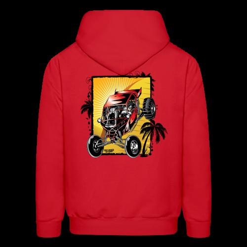 Red Downhill Dune Buggy - Men's Hoodie
