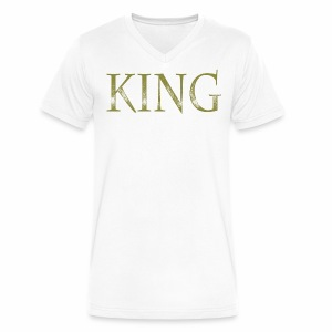 King/Priest - Men's V-Neck T-Shirt by Canvas