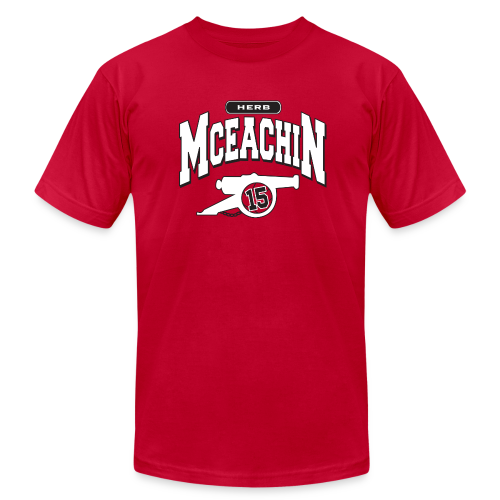 Herb McEachin Cannon - Men's Fine Jersey T-Shirt