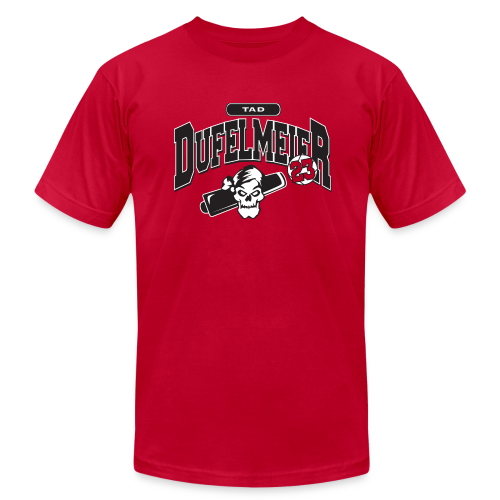 Tad Dufelmeier logo - Men's T-Shirt by American Apparel