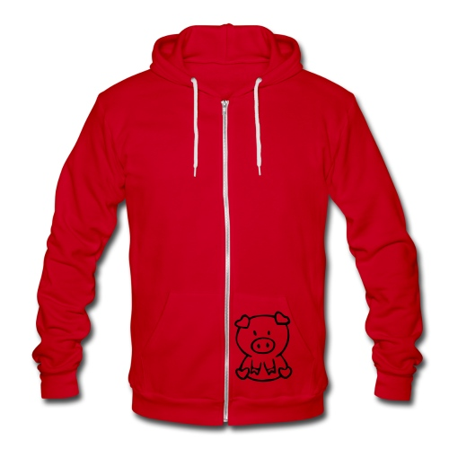 little piggie - Unisex Fleece Zip Hoodie