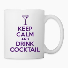 Keep calm and drink cocktail Bottles & Mugs
