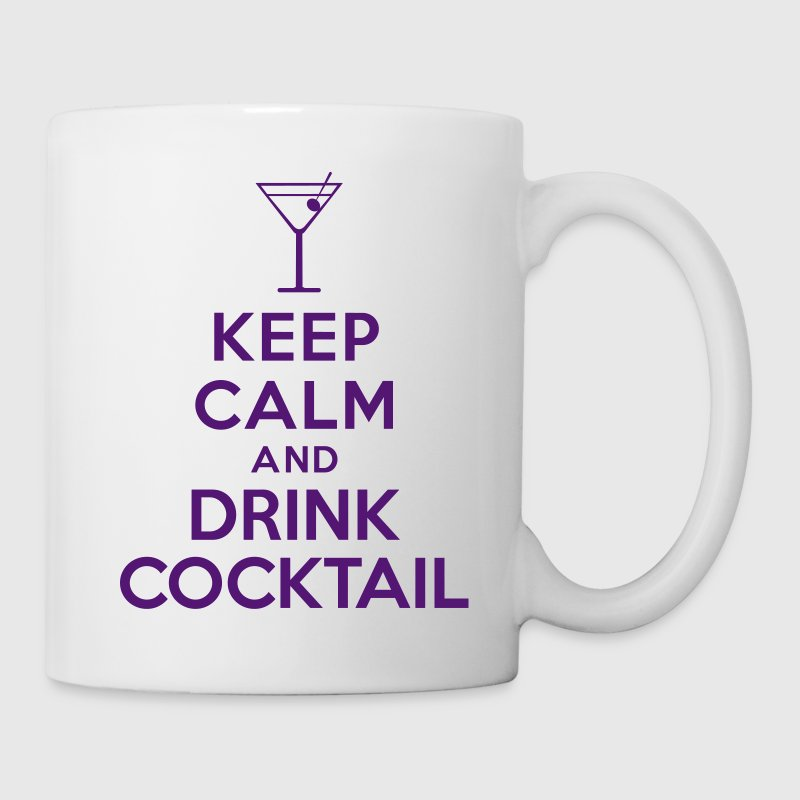 Keep calm and drink cocktail Bottles & Mugs - Coffee/Tea Mug