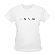 Women's T-Shirts ~ Women's T-Shirt ~ Waveforms