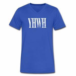 YHWH - Men's V-Neck T-Shirt by Canvas