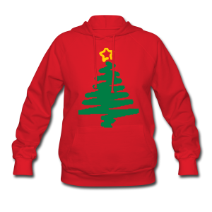 christmas tree with star - Women's Hoodie