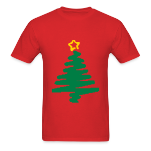 christmas tree with star - Men's T-Shirt