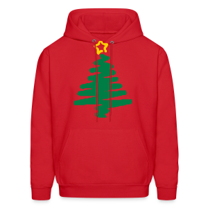 christmas tree with star - Men's Hoodie