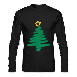 christmas tree with star - Men's Long Sleeve T-Shirt by Next Level