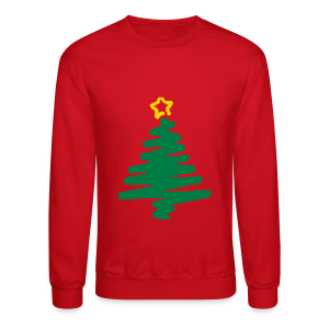 christmas tree with star - Crewneck Sweatshirt