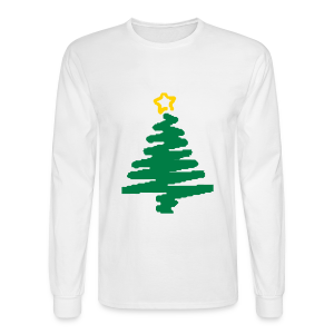 christmas tree with star - Men's Long Sleeve T-Shirt