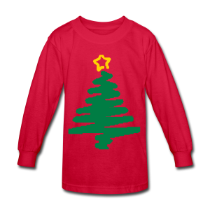 christmas tree with star - Kids' Long Sleeve T-Shirt