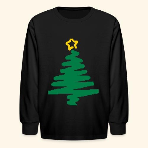 christmas tree with star - Kids' Long Sleeve T-Shirt