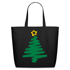 christmas tree with star - Eco-Friendly Cotton Tote