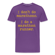 T-Shirts ~ Men's Premium T-Shirt ~ MENS RUNNING T SHIRT – DONT DO MARATHONS