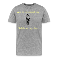 T-Shirts ~ Men's Premium T-Shirt ~ MENS RUNNING T SHIRT – GOD EASY THREE
