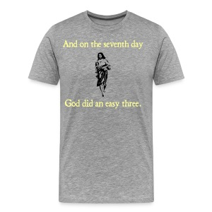 MENS RUNNING T SHIRT – GOD EASY THREE - Men's Premium T-Shirt