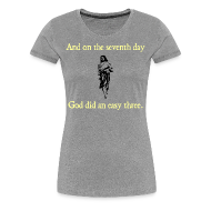T-Shirts ~ Women's Premium T-Shirt ~ WOMENS RUNNING T SHIRT – GOD EASY THREE