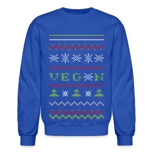 Veg*n Ugly Sweater Men's Sweatshirt - Crewneck Sweatshirt