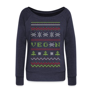 Veg*n Ugly Sweater Women's Wideneck Sweatshirt - Women's Wideneck Sweatshirt