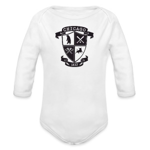 A Chicago Crest - Long Sleeve Baby Bodysuit