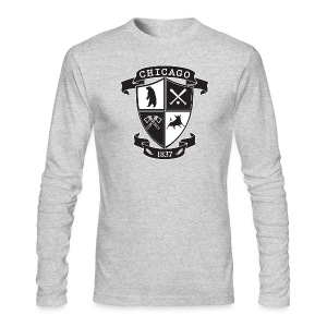 A Chicago Crest - Men's Long Sleeve T-Shirt by Next Level