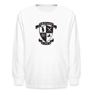A Chicago Crest - Kids' Long Sleeve T-Shirt