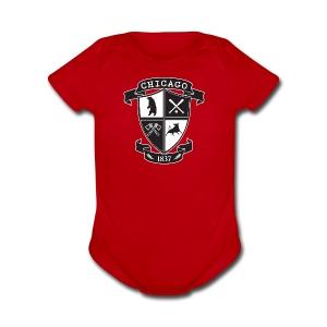 A Chicago Crest - Short Sleeve Baby Bodysuit