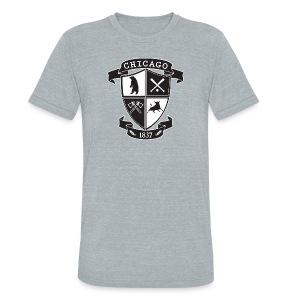 A Chicago Crest - Unisex Tri-Blend T-Shirt