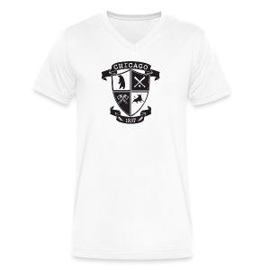 A Chicago Crest - Men's V-Neck T-Shirt by Canvas